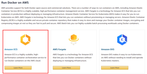 Running on Docker on AWS - EC2