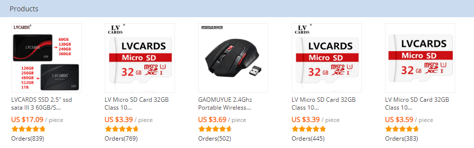LVCARDS GAOMUYU EStore AliExpress products