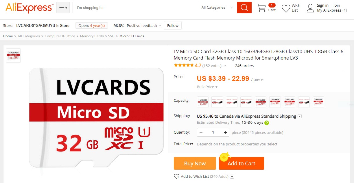 LVCARDS GAOMUYU EStore AliExpress