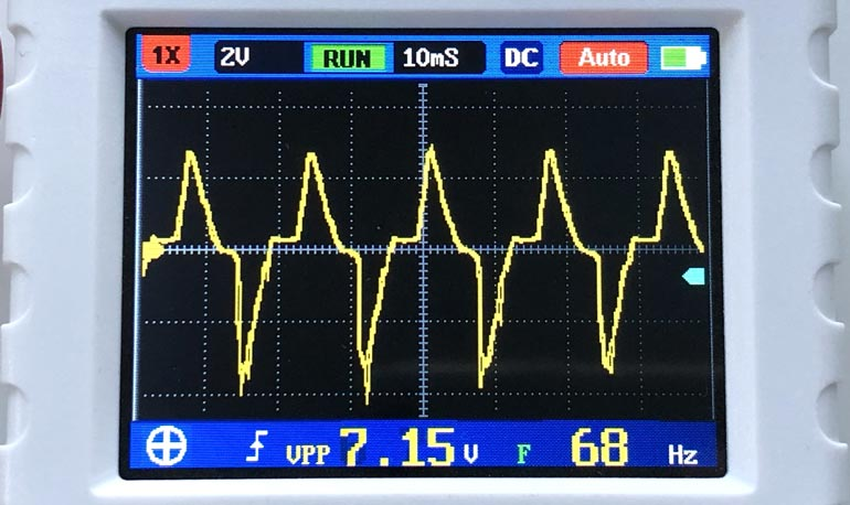 VCC-RTC ripple waveform